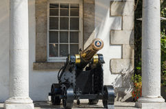 Cannon at The Guardhouse in Gibraltar Royalty Free Stock Image