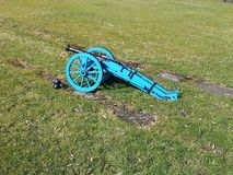Cannon on gun carriage as muzzle-loader cannon royalty free stock photography