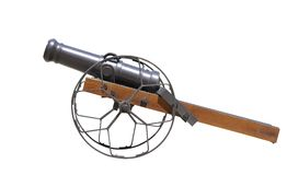 cannon gun  isolated Royalty Free Stock Images