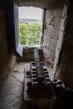 Cannon gun. In Warwick Castle,  United Kingdom Stock Photos