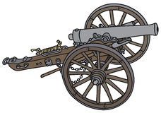 Cannon. Hand drawing of a historical cannon - not a real type Royalty Free Stock Photos