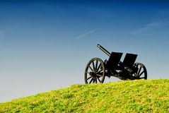 Cannon on the hill Royalty Free Stock Images