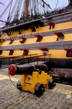 Cannon hms victory nelsons flagship portsmouth historic ships mu. Seum hampshire england Stock Photo