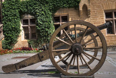 Cannon from Hohenzollern castle Stock Photography