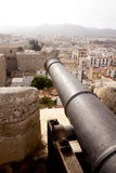 Cannon from Ibiza island castle Royalty Free Stock Images