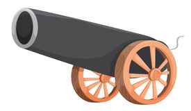 Cannon. Illustration of an old cannon Royalty Free Stock Photo