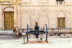 Cannon inside the Junagarh Fort in Bikaner Royalty Free Stock Photos