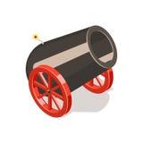 Cannon isolated on white background. Isometric vector illustration Royalty Free Stock Photo