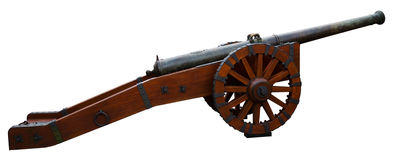 Cannon isolated on white Stock Photos