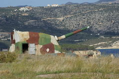 Cannon, Itzedin Fortress in Kalyves, Crete, Greece Royalty Free Stock Photography