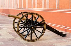 Cannon in Jaipur City Palace Royalty Free Stock Photography