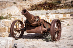 Cannon in the Kerak Castle Royalty Free Stock Image