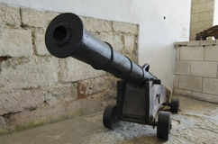 The cannon kernel. At Zolochev old castle in West Ukraine Stock Photo