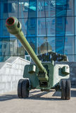 Cannon. A cannon in kharkiv square Royalty Free Stock Photo