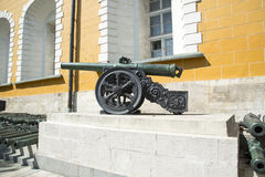 Cannon in the Kremlin, Moscow. Royalty Free Stock Photos