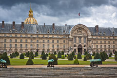 Cannon in Les Invalides museum in Paris Royalty Free Stock Photography