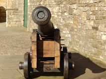 Cannon At Lincoln Castle. Face on view of a old cannon at Lincoln Castle Stock Photo