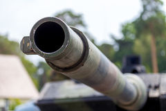 Cannon of main battle tank Stock Images