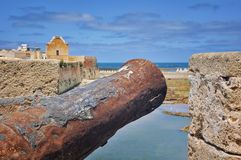 Cannon of Mazagan Fortress in Morocco Royalty Free Stock Photography