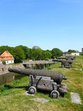 Cannon and moat Stock Photography