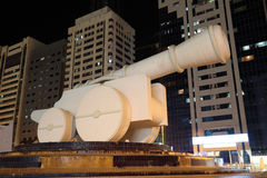 Cannon monument in Abu Dhabi Royalty Free Stock Images