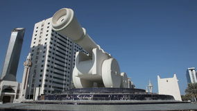 Cannon monument in Abu Dhabi Stock Photo