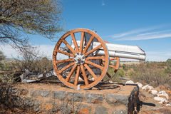Cannon at the monument in Koffiefontein Royalty Free Stock Images