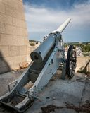 Cannon of the monument to victory an the children of Verdun stock images
