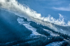 Cannon Mountain Ski Trails Franconia Notch NH Stock Photo