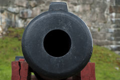Cannon muzzle. A vintage cannon muzzle Royalty Free Stock Photos