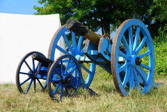 Cannon from napoleonic war times. Operational reproduction royalty free stock images