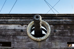 Cannon of Neptune galleon Stock Photography