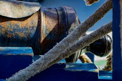 Cannon on a Pirate Ship. This is a cannon off a pirate ship that docked in Oregon summer of 2018 Royalty Free Stock Photos