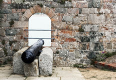 Cannon. Old cannon in Elizabeth castle, Jersey island stock photos
