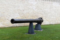 Cannon old port Ancona Stock Image