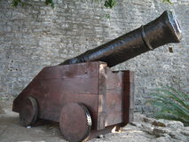 Cannon in Old Town Budva.  Stock Photography