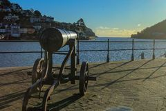 Free Cannon On The Quay In Dartmouth Devon UK Royalty Free Stock Photography - 106042047