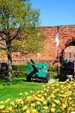 Cannon outside Shrewsbury castle. Stock Photo