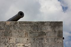 Cannon over the Ramparts Stock Images