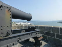 Cannon over St. Lawrence Royalty Free Stock Photo