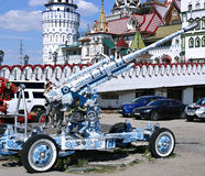 Cannon, painted in the style of traditional Russian Khokhloma Stock Photography