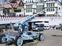 Cannon, painted in the style of traditional Russian Khokhloma Royalty Free Stock Photos