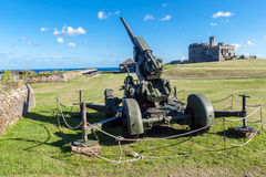 Cannon at the Pendennis Castle Royalty Free Stock Image