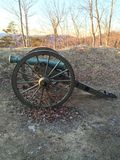 Cannon. At the Pinnacle in Cumberland Gap, Tennessee Royalty Free Stock Photography