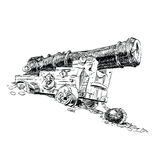 Cannon pirate vector graphics Royalty Free Stock Images