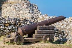 Cannon. Platamonas, Pieria, Greece Royalty Free Stock Photos