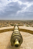 Cannon point at Jaisalmer Fort, Rajasthan, India. Cannon point and the City View at the Golden Fort of Jaisalmer, Rajasthan, India Royalty Free Stock Photography