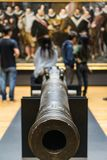 Cannon pointed at me royalty free stock photos