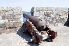 Cannon pointing to the Atlantic Royalty Free Stock Images