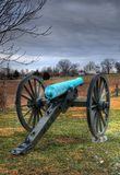 Cannon Points Toward Farmhouse Stock Images